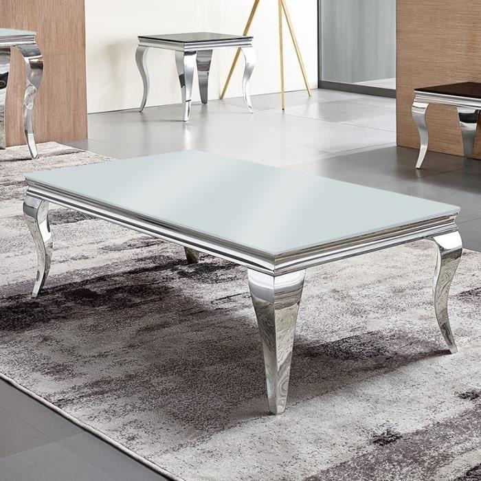Table basse baroque EMA - Blanc
