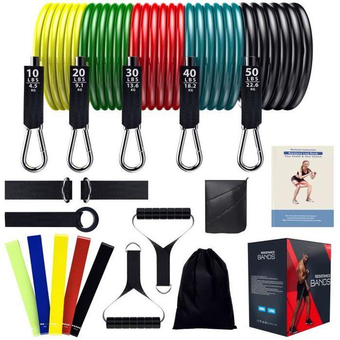 Bande Résistance Musculation Élastique de Fitness 150 LBS, Sport Maison Homme, Femme, Bande d'Exercice Yoga, Gym