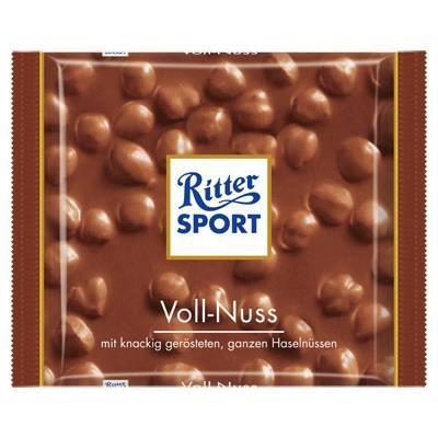 Ritter Sport Lait Noisettes Entires [Tablette de 100g]
