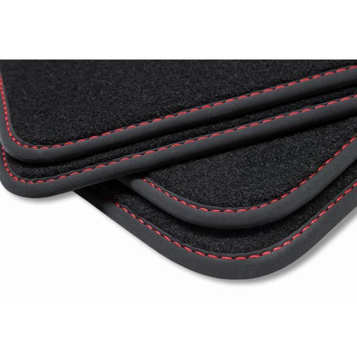 Premium Tapis de sol pour VW Polo V 5 6R / 6C anneé 2009-07/2017 [Rouge]