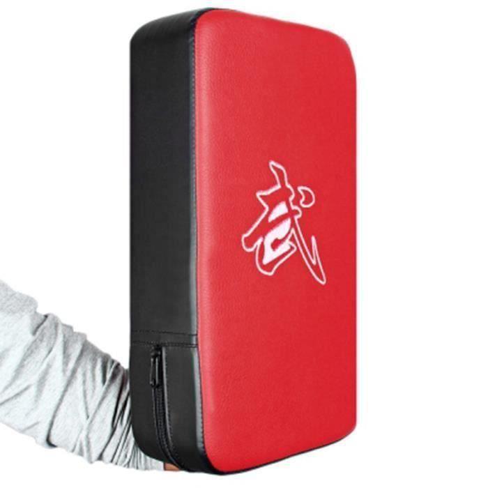 Frapper Coup de poing Kicking Pad Bras Bouclier Cible pour Focus Formation de Boxe Karaté Muay Thaï Kick UFC MMA TKD rouge