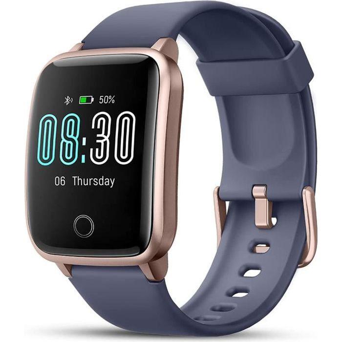 Montre Connectée, Sport Montre Intelligente Smart Watch Etanche IP68 Avec Ecran Tactile Podometre Moniteur de Sommeil Cardiaque GPS