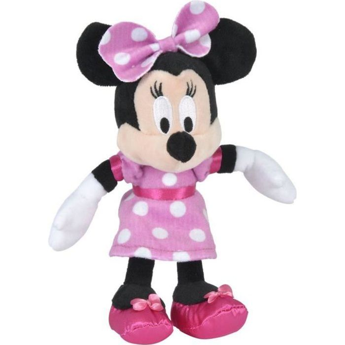 Disney Minnie Mouse - Peluche Minnie - Matériau Softwool 19cm