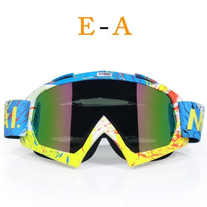 Lunettes de protection,Lunettes de marque pour moto, Dirt Bike, ATV, Cross, Ski, Fox, moteur pour moto, Snowboard, verres - Type A1
