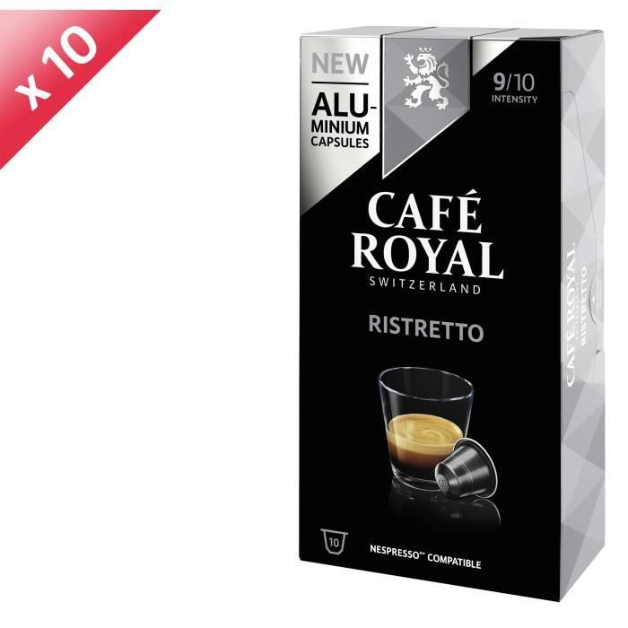 [LOT DE 10] CAFE ROYAL Café Ristretto - Compatible Nespresso aluminium - 10 capsules