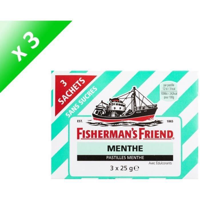 [LOT DE 3] FISHERMAN'S FRIEND Pastille sans sucres - 3x 25g - Menthe