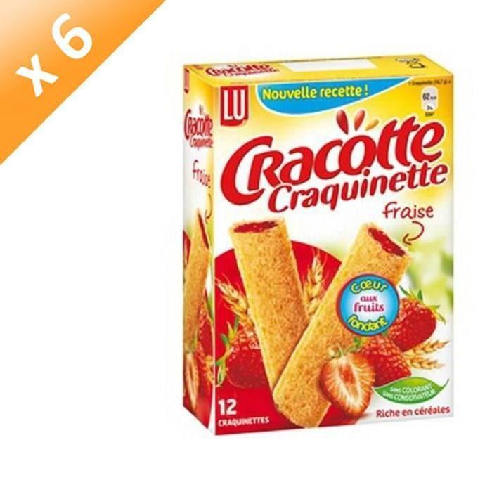 [LOT DE 6] Cracotte Fourrée Fraise 200g