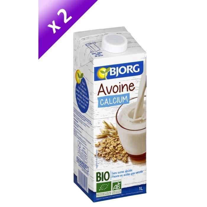 BJORG Lot de 2 Boissons Avoine Calcium - 2 x 1 L