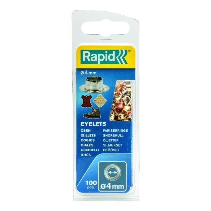 RAPID 100 oeillets 4mm (Lot de 3)