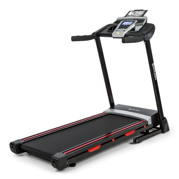 CAPITAL SPORTS Pacemaker F80 Tapis de course cardio-training 14 km-h - Port USB & enceinte intégrés