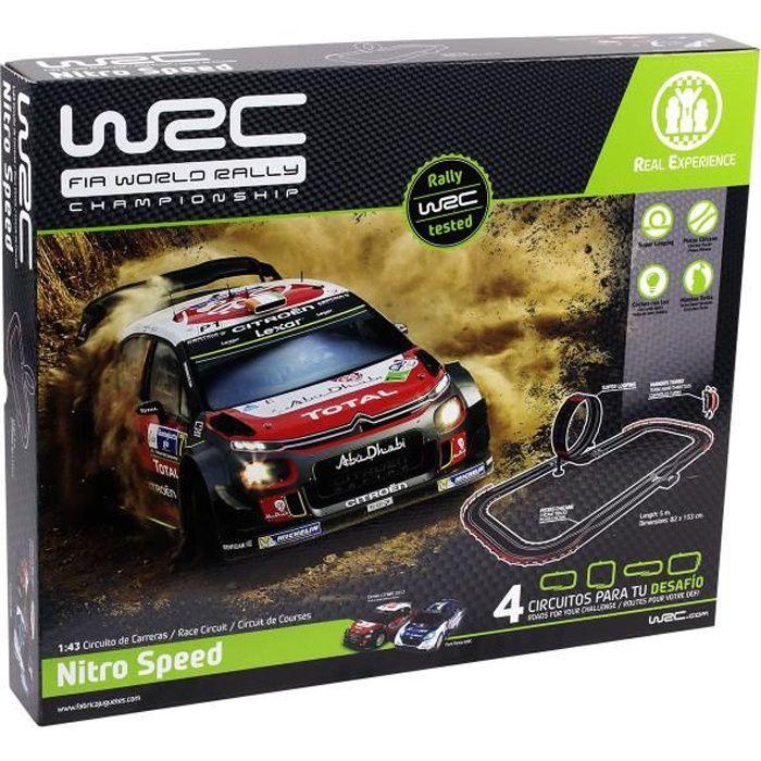 WRC Circuit Electrique Rally 1/43 Nitro Speed - 5 m - Jusqu'à 4 combinaisons