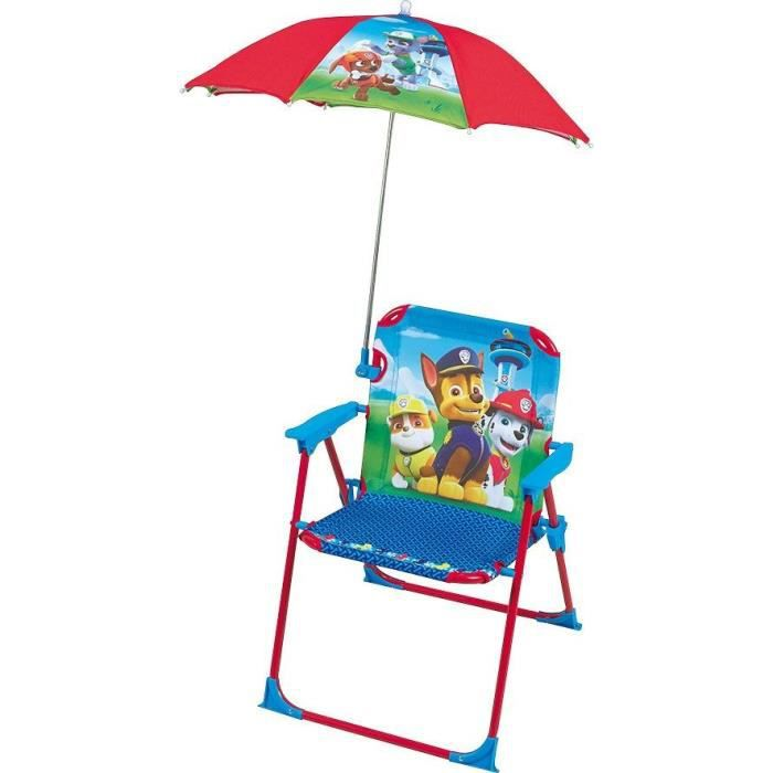 Fun House **Pat Patrouille chaise avec parasol pour enfant