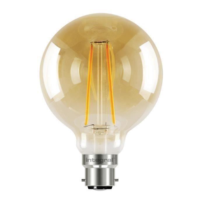 INTEGRAL LED Ampoule décorative G95 B22 2,5 W équivalent à 40 W