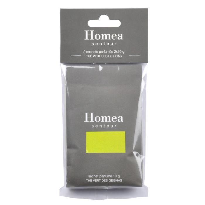 Lot de 2 sachets fraîcheur parfumé - 10 g - Parfum : thé vert Geishas