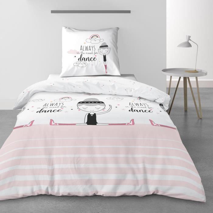 Parure de lit Valentine Les Ateliers du Linge 140 X 200 IMPRIME