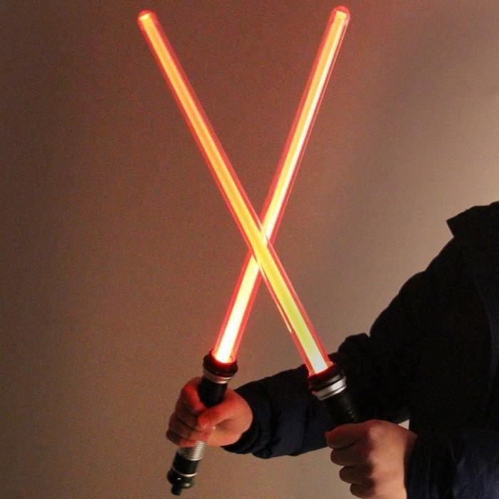 2 en 1 Sabre laser Star Wars Guerre des étoiles Lightsaber Creative LED Clignotant Épée Cosplay Prop Drôle Laser Épée Jouet avec