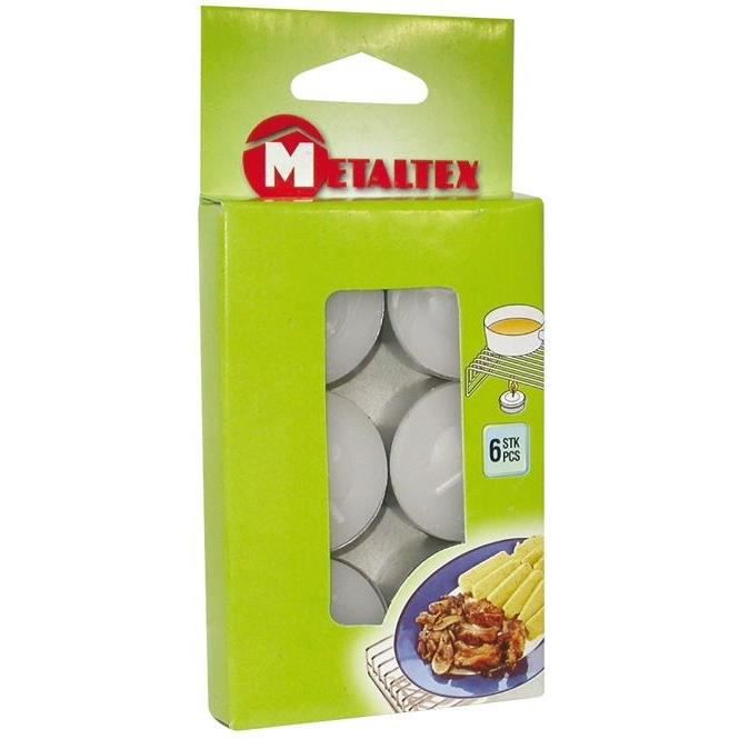METALTEX - Bougie chauffe plat x6 blister 256600