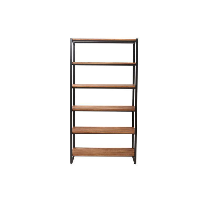 Miliboo - Bibliothèque industrielle métal et bois ARISTOTE
