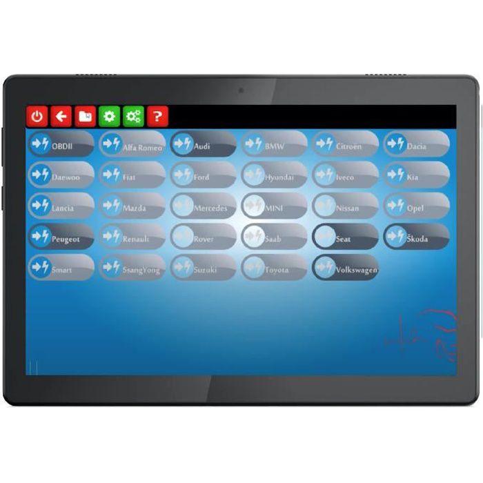 Valise Diagnostic Auto Multimarques Pro MaxiECU 18 marques + Tablette 10 pouces - Outil Diagnostique Puissant OBD2
