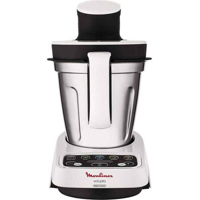 MOULINEX VOLUPTA HF404110 - Robot culinaire de réchauffage - 1000 W - 100 recettes - Programmes automatiques