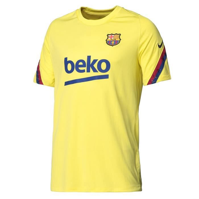 NIKE Maillot de Football Barca Brt Strk 19 - Homme - Jaune