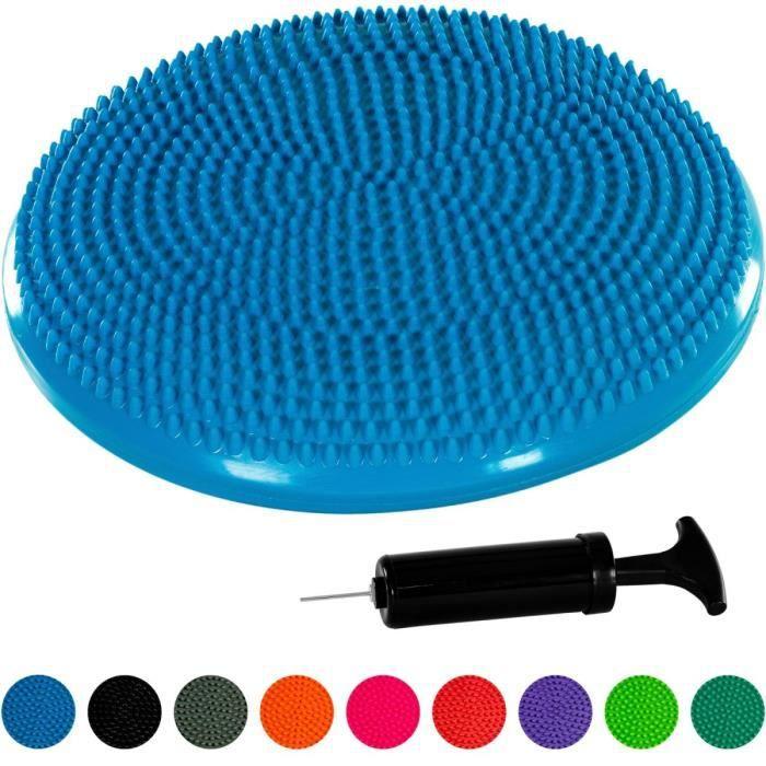 MOVIT Coussin d'équilibre et d'assise gonflable 33 cm, bleu