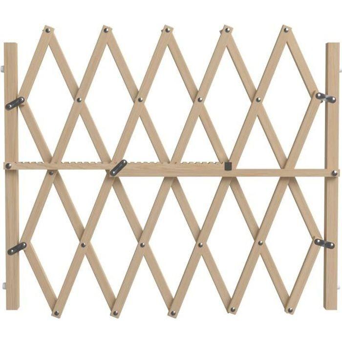 NORDLINGER PRO Barrière Pressfix extensible en bois - Pour chien