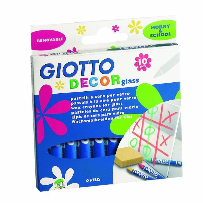 Giotto - Pochette de 10 pastels à la cire