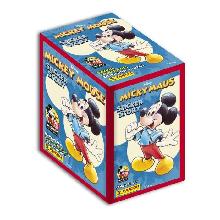 MICKEY MOUSE 90 ANS Boîte de 50 pochettes de stickers