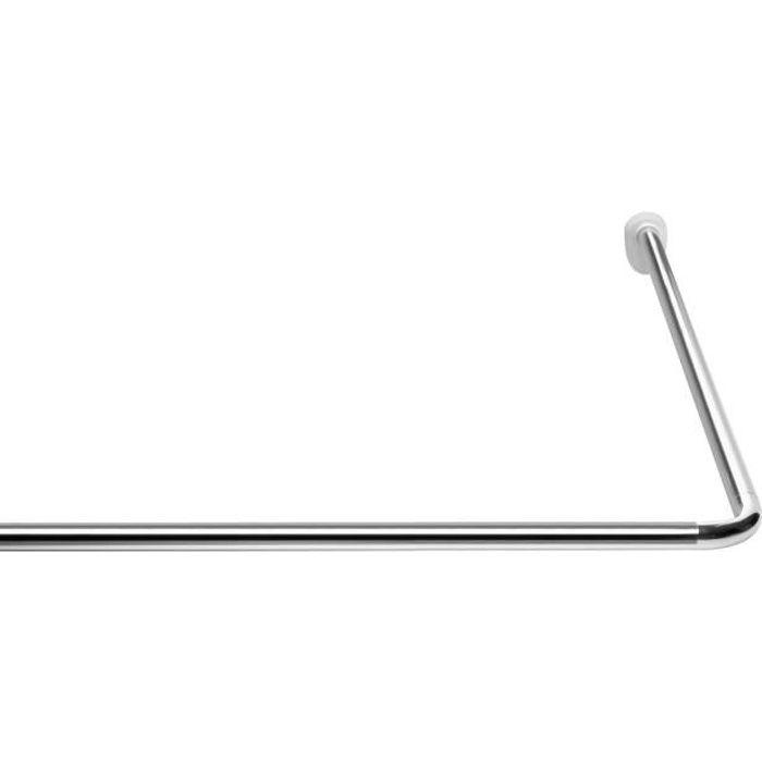 Barre d`angle 80x80 cm - ø 25 mm - Chrome