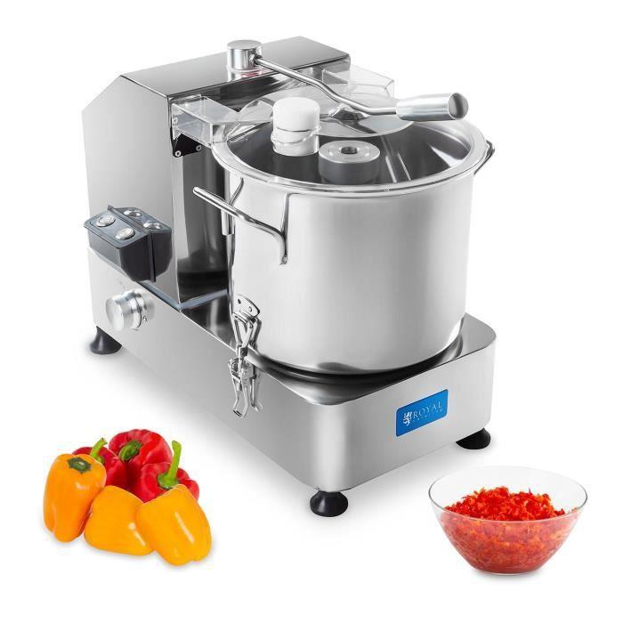 Hachoir Viande Legumes Fruits Inox Pro Pour Cuisine Couteau Emulsion 12L 50x33x49cm 950W 1100–2800 tr/min Royal Catering RCKC-12000