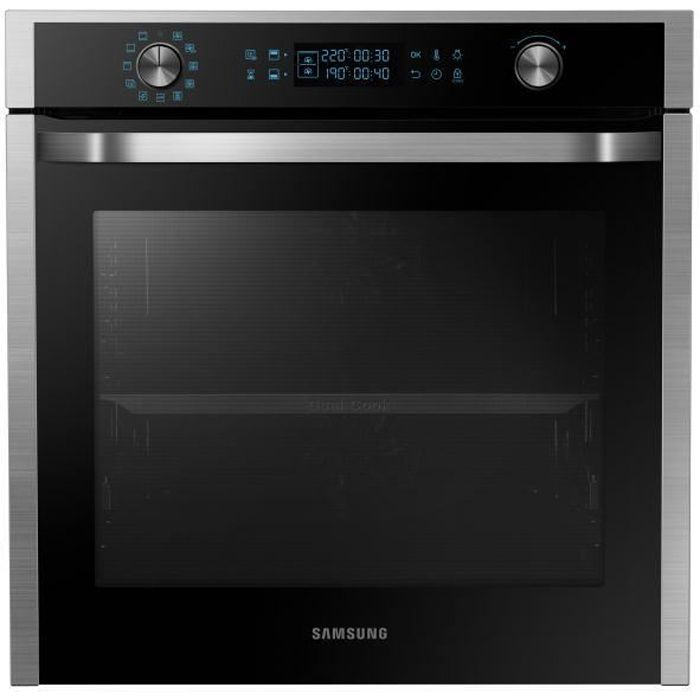 SAMSUNG - NV75J7570RS/EF - Four 3en1 Twin Convection™ - 75L - Pyrolyse - A - Blanc