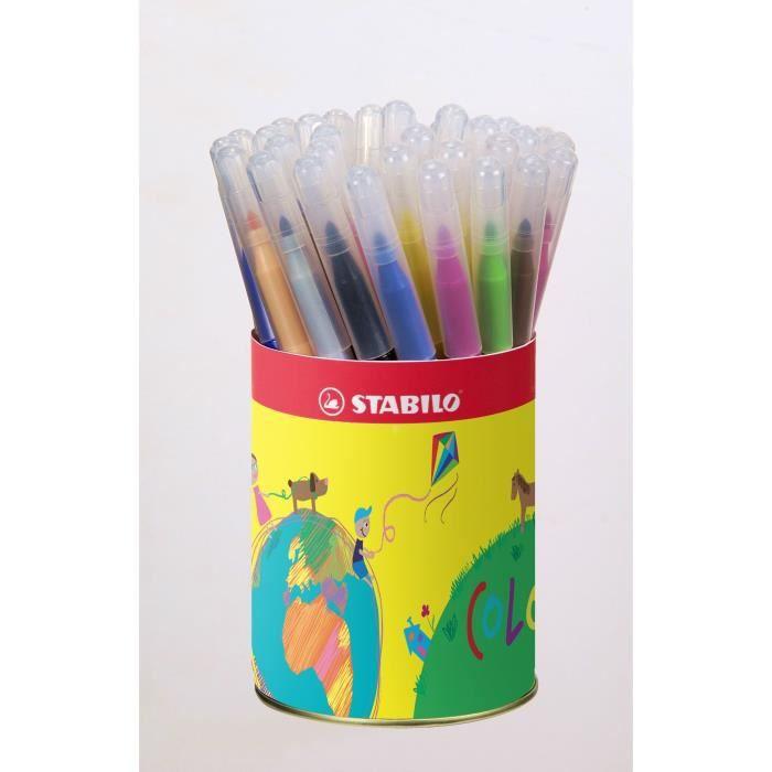 STABILO - Pot métal - lot de 36 feutres de coloriage