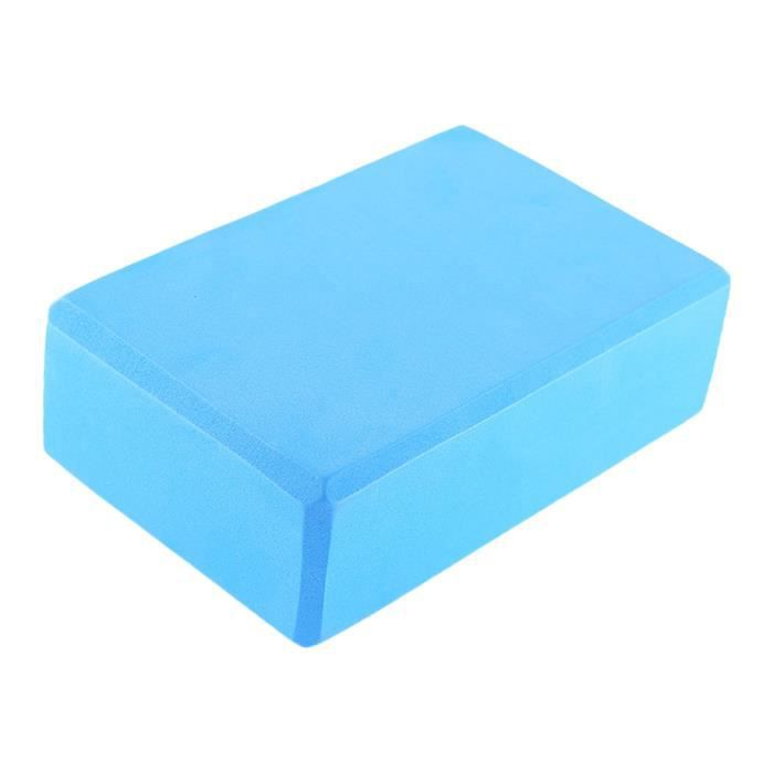 SURENHAP EVA Bloquer Brique de Yoga Bloc Mousse NonToxique Pilates Bleu clair