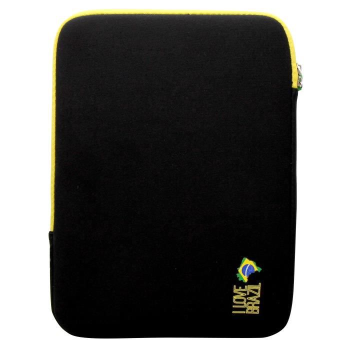 T'NB Housse de protection universelle pour tablette 10- - Design BRAZIL - Noir