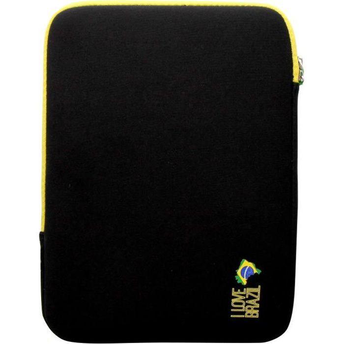 T'NB Housse de protection universelle pour tablette 10- - Design BRAZIL - Noir