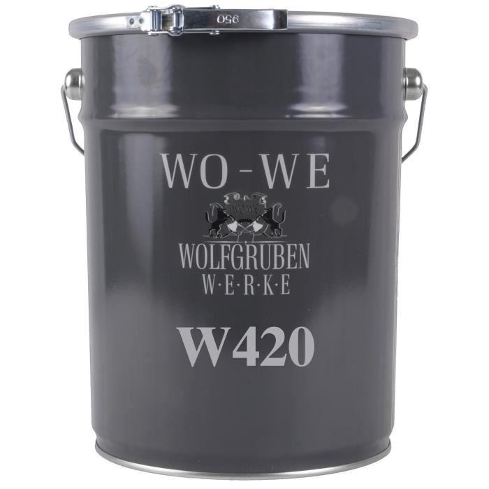 Peinture pour bois - Vert-feuillage sim. à RAL 6002 - 2,5L - Pour tous types de bois - Pour Intérieur et extérieur