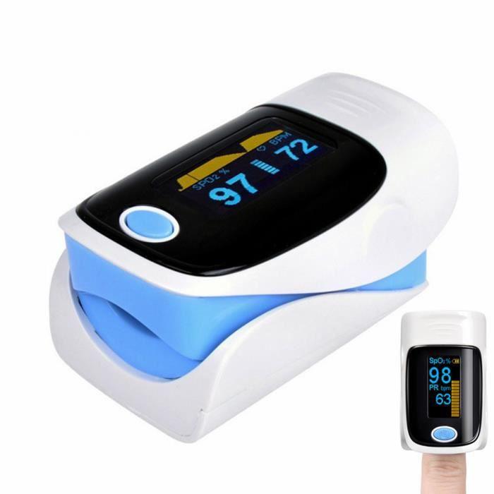 Clip Finger oxymètre de pouls rythme cardiaque détecter mètre moniteur doigt impulsion de l'oxygène (BLEU)