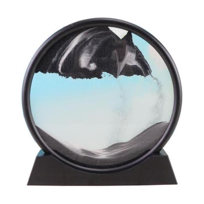 GFT28123-Sables mouvants Image, verre Qui Coule Sable Quicksand Peinture Sables Mouvants Art Sable-paysages en Mouvement de Bureau
