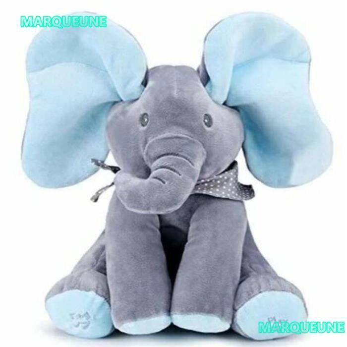 Nouveau 1 Pcs Jouets en peluche douce peluche éléphant mignon animaux Gray