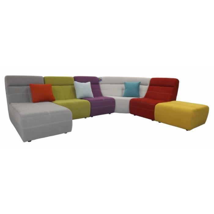 canap tissu moderne multicolore fil contrast osaka achat vente canap sofa divan. Black Bedroom Furniture Sets. Home Design Ideas