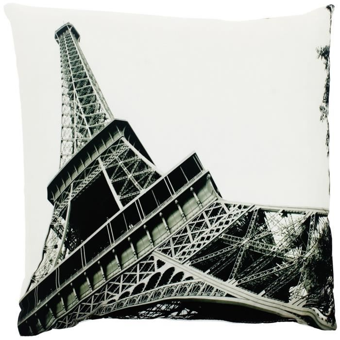 coussins deco paris achat vente coussins deco paris pas cher cdiscount. Black Bedroom Furniture Sets. Home Design Ideas