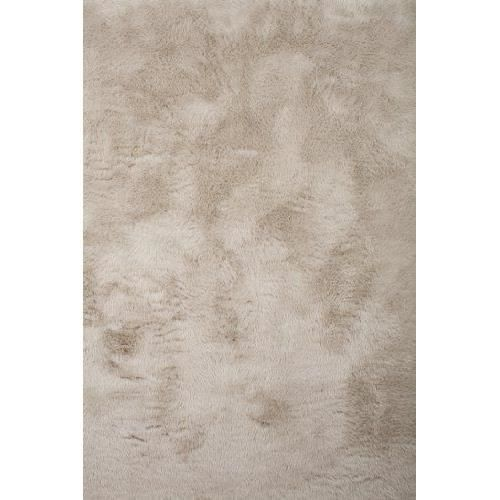 tapis contemporain pilepoil gris taupe 140 x 200 cm fausse fourrure fabrication franaise - Tapis Taupe