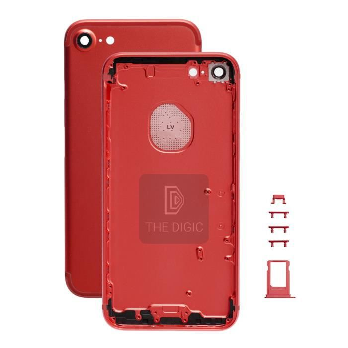 chassis coque arriere pour iphone 7 4 7 rouge