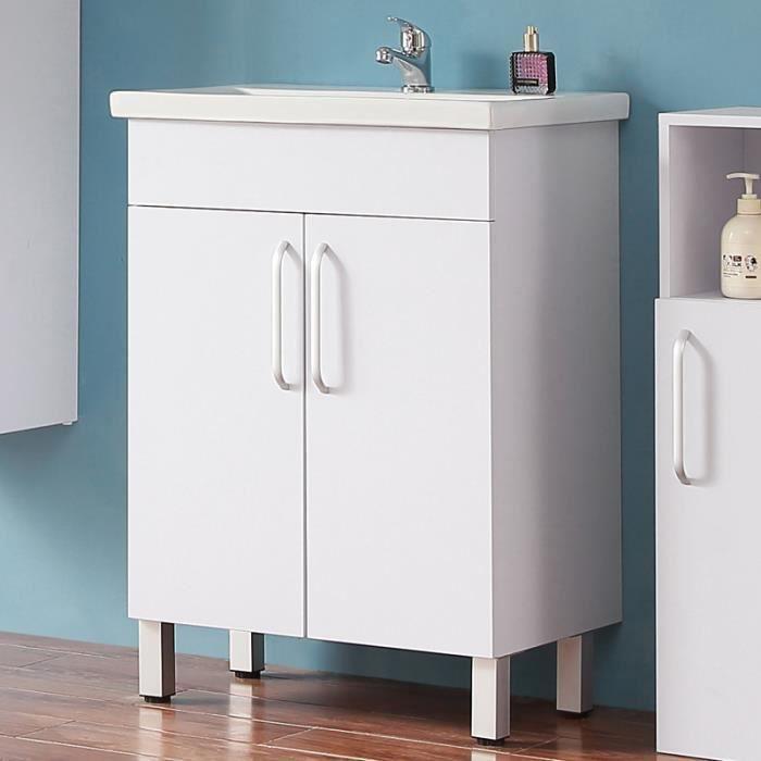 Meuble complet avec vasque salle de bain avec pied