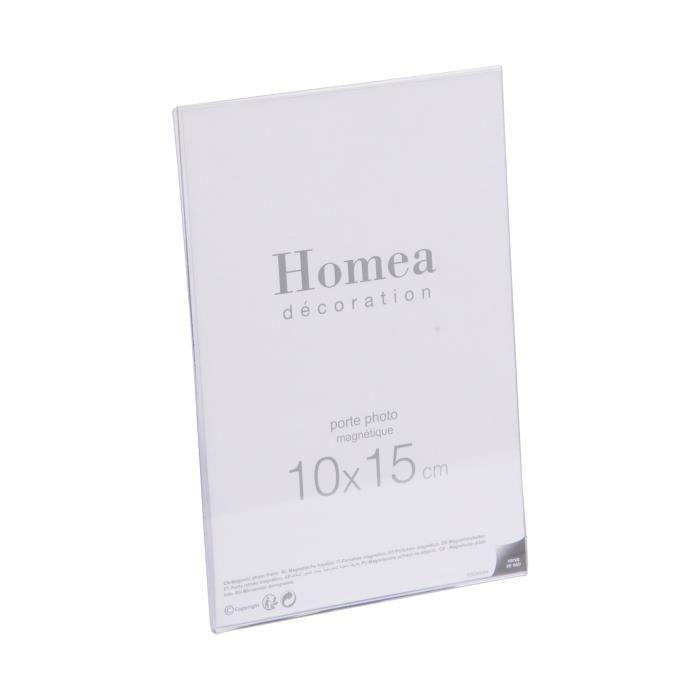 CADRE PHOTO Porte-photo magnétique Homea 10x15 cm transparent