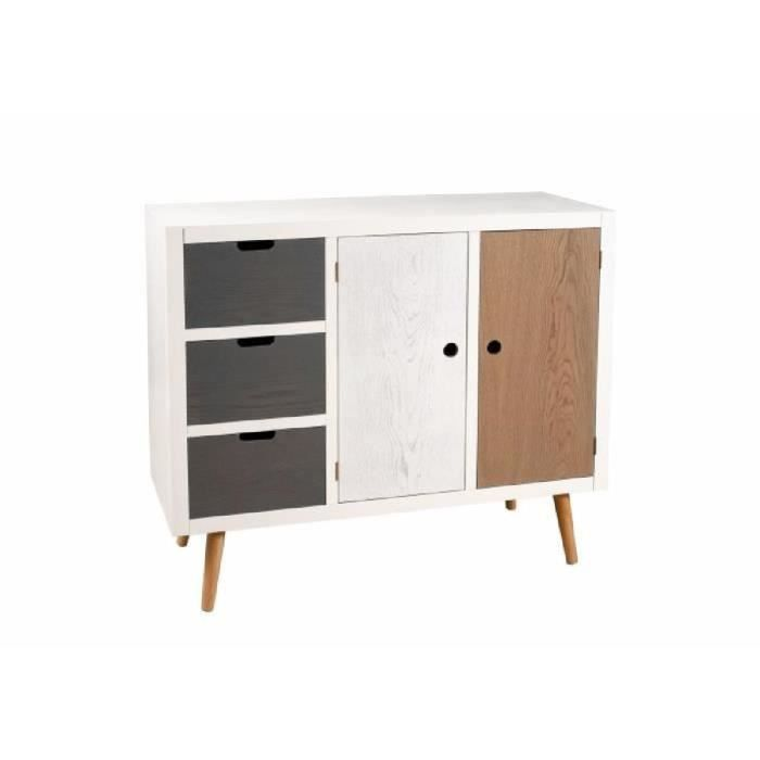 cracovie buffet 3 tiroirs 2 portes l100cm pin mdf achat. Black Bedroom Furniture Sets. Home Design Ideas