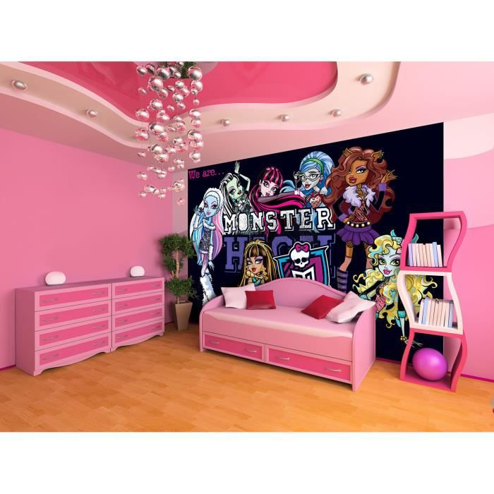 monster high poster papier peint 368x254cm achat. Black Bedroom Furniture Sets. Home Design Ideas
