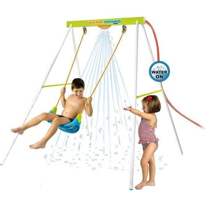 BALANÇOIRE - PORTIQUE FEBER Balançoire de Jardin Water Swing Métal