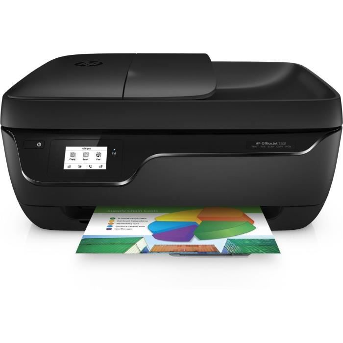HP Imprimante 4 en 1 - Officejet 3831 - Jet d encre - couleur - Wifi ... 4ac269916bf4